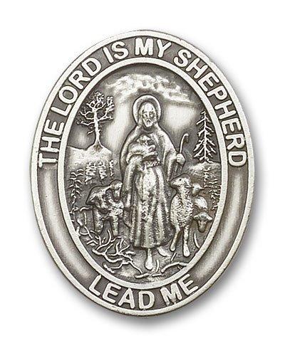 Antique Silver Tone Lord Is My Shepherd Visor ()
