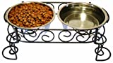 Scroll Work Double Diner 2Qt, My Pet Supplies