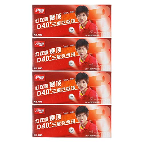 DHS ABS D40+ 3-Star White Table Tennis Balls (40 Balls)