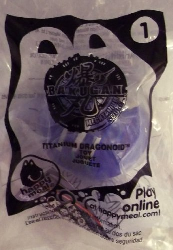 "McDonalds - BAKUGAN MECHTANIUM SURGE #1 Blue ""Titanium Dragonoid Toy"" - 2011"