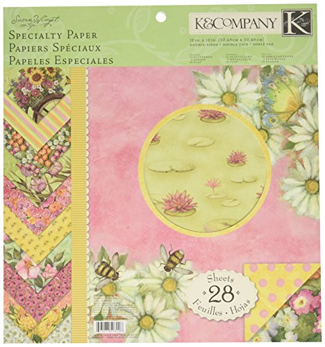 K&Company 12-by-12-Inch Spring Blossom Specialty Paper Pad, 28-Sheet