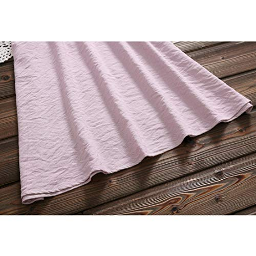Aprikosen Cotone Gonna Revers Donne Size Arder Yahuyaka Xxl Con Per Kneeskirt Relax In Lunga Pink color Risvolto Le Manica ZnCwCxRAq