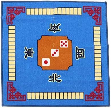 Healifty Mahjong Tischdecke Tischplatte für Poker Kartenspiele Brettspiele Fliesenspiele Domino Und Mahjong (Blau)