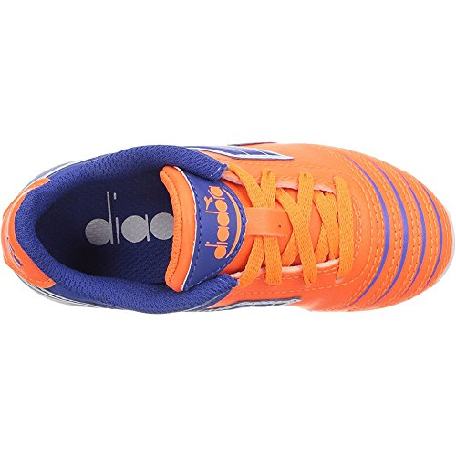 af0494f1d Diadora Kids Unisex Cattura MD Jr Soccer (Toddler Little Kid Big Kid)  Orange Blue 10 Toddler M - F716010 4044   Shoes   Clothing