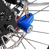 Alomejor Candado de Freno de Bicicleta Seguridad Rueda de Bicicleta antirrobo Impermeable Freno Disco Lock para Motocicleta Moto