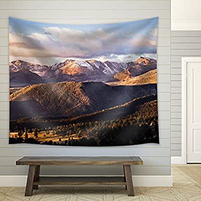 Handsome Piece of Art, Clouds Over Mountains Filled with Pine Trees, Created Just For You