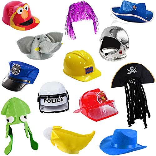 Costume Hats For Kids (6 Assorted Dress Up Costume & Party Hats by Funny Party Hats (6 Child Costume)