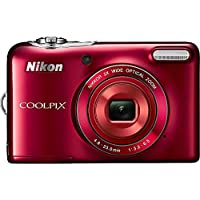 Nikon Coolpix L30 Digital Camera (Red) (Certified Refurbished) At A Glance Review Image