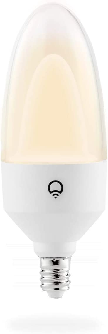 LIFX Candle White to Warm E12, 480 lumens, Wi-Fi Double-Diffuser Smart LED Light Bulb, Tunable White, Dimmable, No Bridge Required, Works with Amazon Alexa, Hey Google, Apple HomeKit.