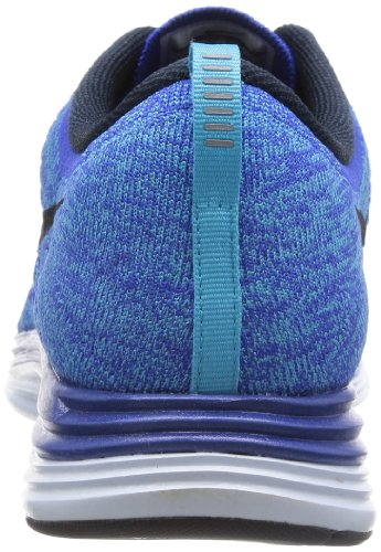 Nike Mens Flyknit Lunar1, Gym Royal Blue / Dark Obsdn-chlrn Bl-bl T