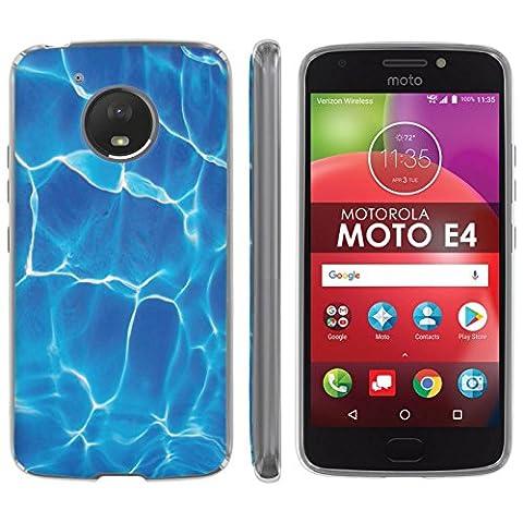 Motorola Moto E [4th Gen] TPU Silicone Phone Case [Mobiflare] [Clear] Ultraflex Thin Gel Phone Cover - [Water Ripples] for Moto E4 [Moto E 4th Gen] [5