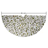 MrXLWhome Christmas burlap tree skirts, White with green tree, Christmas holiday decorations 46inch