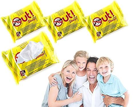 Paquete de 45 toallitas impregnadas de citronela anti-mosquito: Amazon.es: Hogar