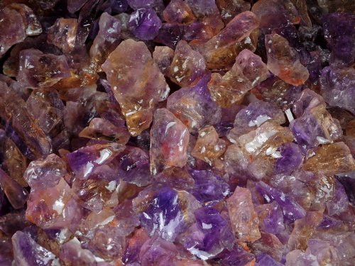 Mine Rough (Ametrine Small Mine Run Rough - 1 Pound Lot | Lapidary for Cabbing, Tumbling, Wire Wrapping, Reiki)