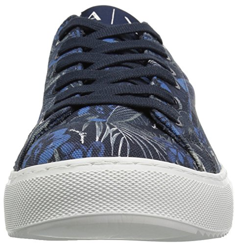 Cut Exotic Armani Blue Low Jungle Print Exotic Sneaker Men Exotic X Exchange A v5w7qf8f
