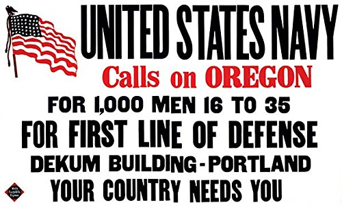 (Buyenlarge 0-587-22100-3-C2030 United States Navy Calls on Oregon Gallery Wrapped Canvas Print, 20