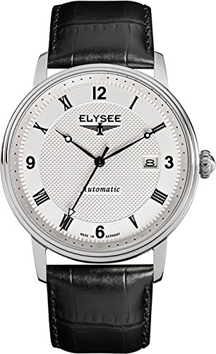 ELYSEE Men's 77004 Executive-Edition Analog Display Automatic Self Wind Silver Watch