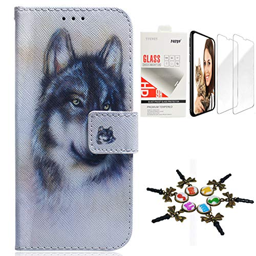 - STENES Wallet Cases Compatible with Samsung Galaxy S10 - Stylus - Girls Women Series Wolf Folio Flip Kickstand Magnetic Closure Durable PU Leather Cover Case with Screen Protector [2 Pack] - White