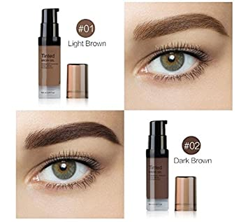 Huihuger Sweatproof Natural Liqiud Waterproof Gel Eyebrow maquillaje duradero de la ceja (Color : As