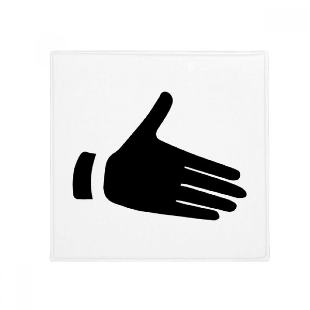 DIYthinker Reach Out Gesture Silhouette Pattern Anti-Slip Floor Pet Mat Square Home Kitchen Door 80Cm Gift