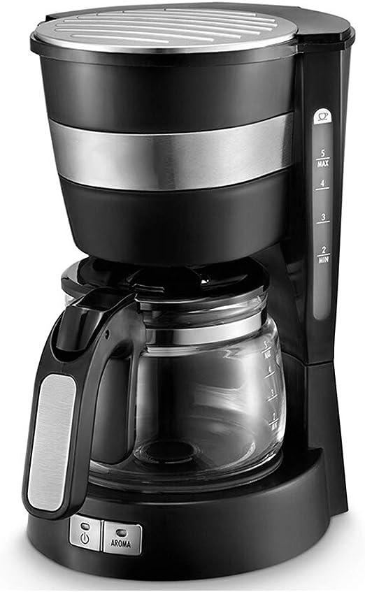 Cafeteras Cafetera de goteo doméstico Mini cafetera semiautomática Máquina de té 600ml-black: Amazon.es: Hogar
