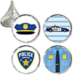 Police Party Favor Stickers, 324 Count