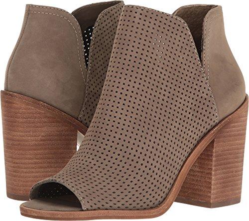Steve Madden Womens Tala High Heel Open Toe Bootie Shoes, Olive Nubuck, US 5.5