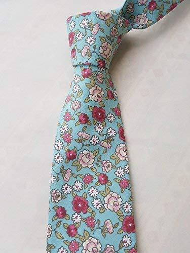 Corbata azul celeste con rosas hecho a mano hand made: Amazon.es ...