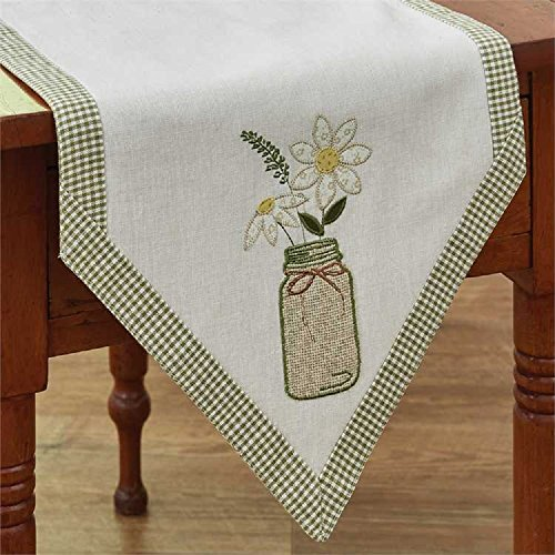 - Park Designs Mason Jar 13 Inches x 42 Inches Applique Table Runners Kitchen Linens