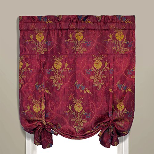 United Curtain Jewel Woven Tie Up Window Shade, 40 x 63
