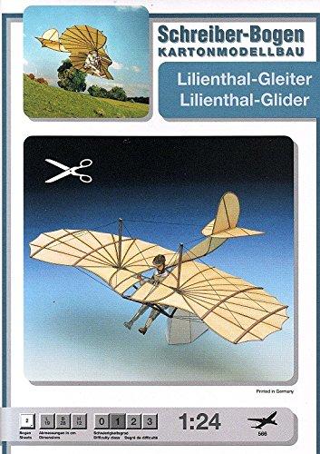 Aue Verlag Schreiber-Bogen Card Modelling Lockheed Lilienthal-Glider 1:24 by Aue Verlag