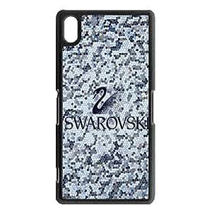 elegant design SWAROVSKI logo phone case for Sony Xperia Z2 luxury SWAROVSKI logo Protective cover Case