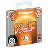 Panasonic LM-RW60U2 8CM DVD-RW Double Sided Disc  (60 minutes, 2 Pack)