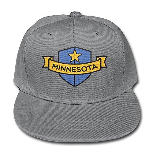 Minnesota Shield Youth Unisex Adjustable Flat Hat Bill Baseball Caps In 4 Colors