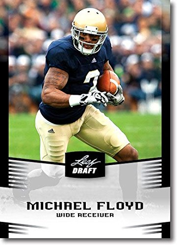 2012 Leaf NFL DRAFT Michael Floyd Rookie Notre Dame Rare BLACK RC ()