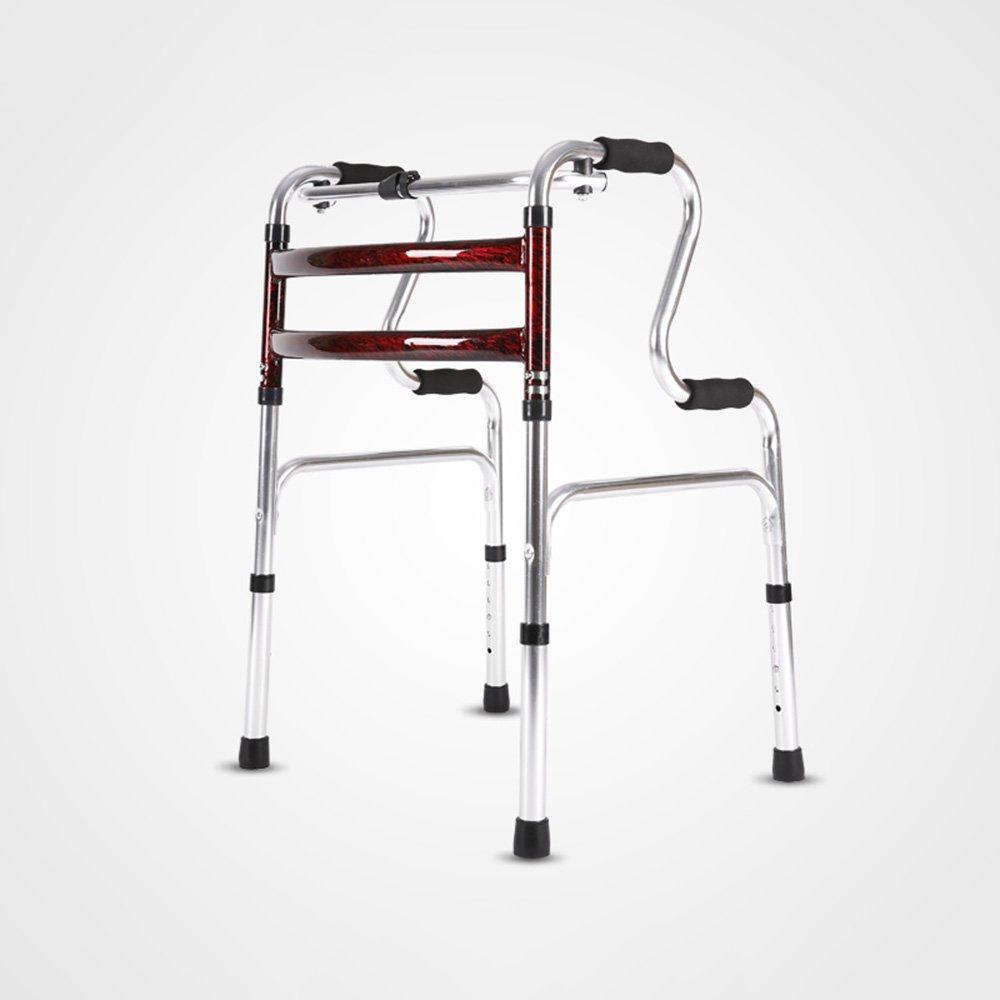 QFFL クルーザー車椅子シートウォーカーアルミニウム厚い高齢者ウォーカー折りたたみ式4フィートトローリー3色使用可能 松葉杖ウォーカー ( 色 : A ) B07B4BWN7YA