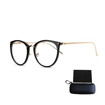 fc69d57e77a31 Pingenaneer Montures de lunettes Rétro Rondes Lunettes de Vue Lentille  Claire pour Homme et Femme Lunettes