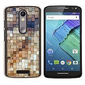 Stuss Case / Funda Carcasa protectora - Estructura de arte de la pared de madera de diseño - Motorola Moto X3 3rd Generation
