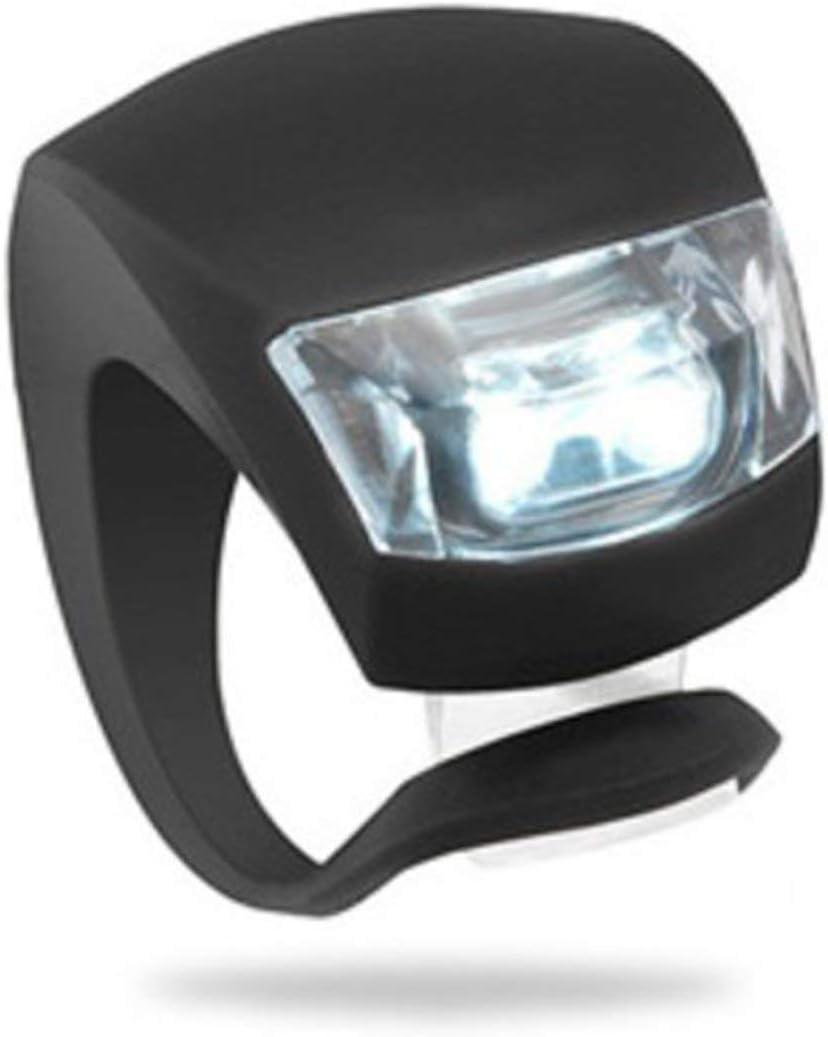 Black BIYI Silicone LED Cycling Lamp Waterproof Bike Front Light Bicycle Headlight Bycicle Handlebar Lamp