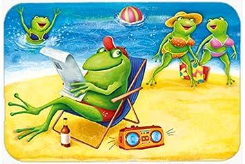 Frösche Auf Den Strand Küche Oder Badteppich 24 X 36 Aph0080jcmt
