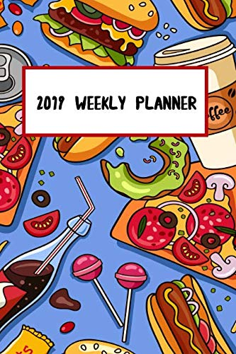 2019 Weekly Planner: Junk Food Pizza Taco Hamburger Inspired 18 Month Weekly Planner by Spark Journals