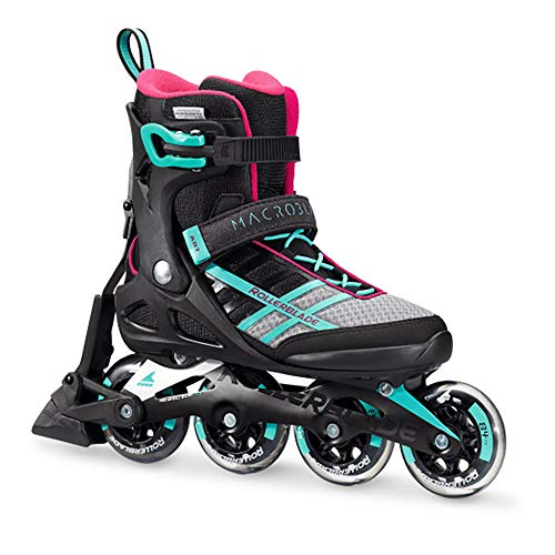 Rollerblade Macroblade 84 ABT Womens Adult Fitness Inline Skate, Emerald Green and Cherry, Performance Inline Skates, Emerald Green/Cherry, US Womens 6