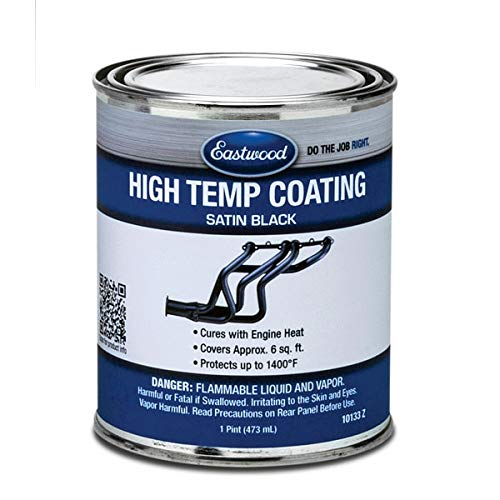 Eastwood Satin Black High Temperature Paint Pint #10133Z