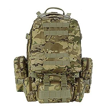 CVLIFE 50L Military Rucksacks Tactical Backpack