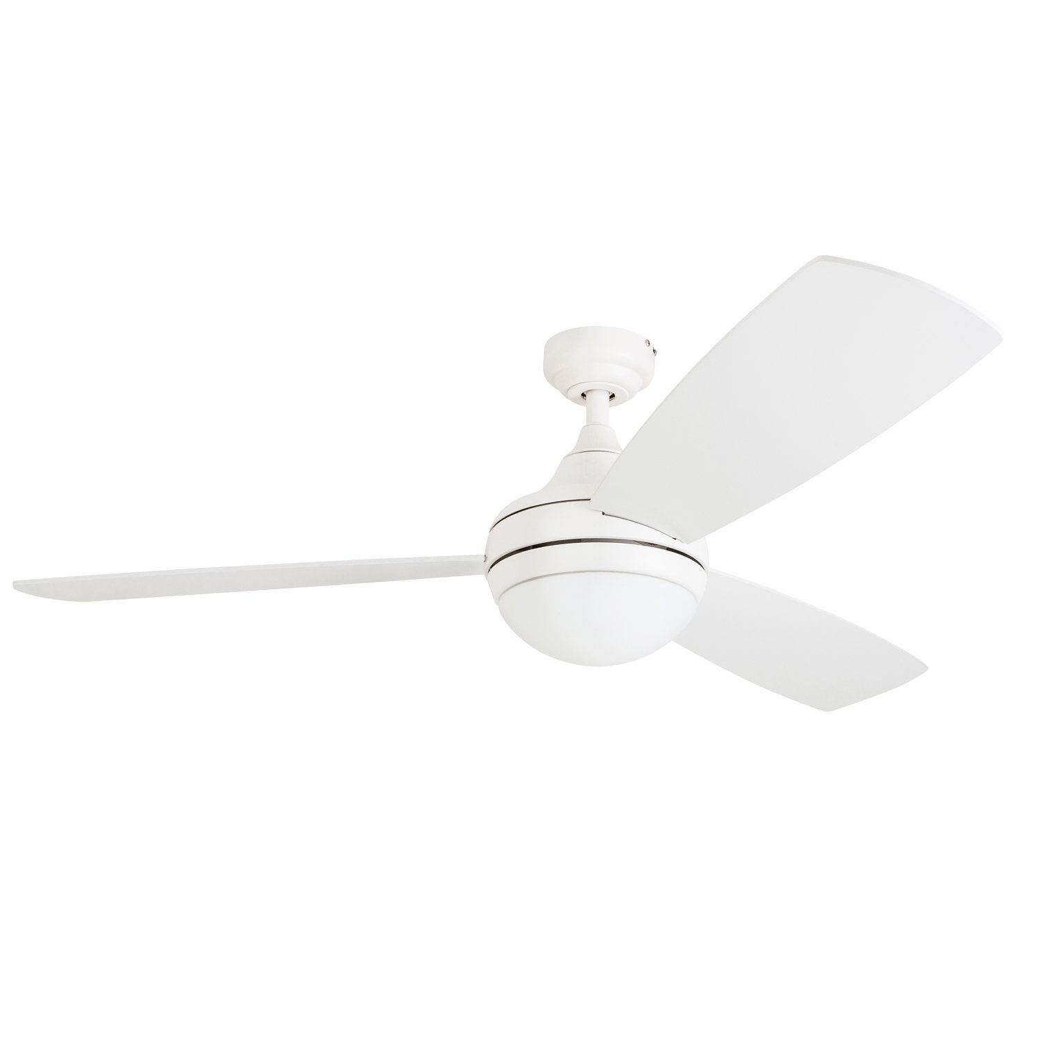 Prominence Home 80034-01 Calico Modern/Contemporary LED Ceiling Fan with Remote Control, 52 inches, Energy Efficient, Cased White Integrated Light Kit, White