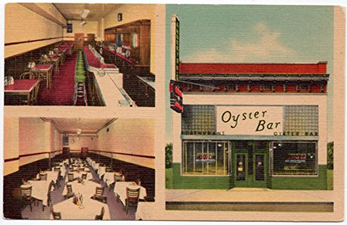 Oyster Linen - Linen Postcard Anderton's Oyster Bar Restaurant in Memphis, Tennessee~107875
