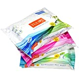 Tulips Refreshing Wet Wipes With 3 Different Fragrance -20 Wipes Each (Japanese Cherry, Magnolia & Summer Fresh)