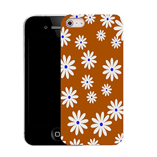 Mobile Case Mate IPhone 4 clip on Silicone Coque couverture case cover Pare-chocs + STYLET - daisy bloom pattern (SILICON)