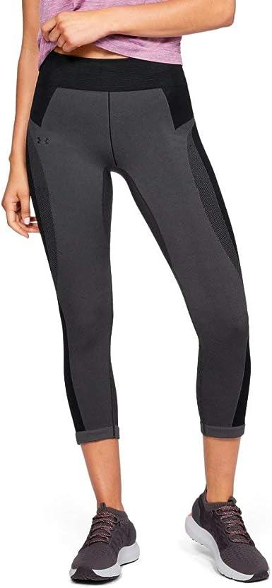 Jet Gray//Black//Metallic Silver 010 Under Armour Womens UA Vanish Seamless Hoody Warm-up Top X-Small