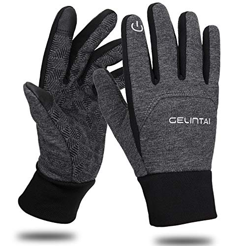 Maylisacc Lightweight Running Gloves with Touch Screen Fingers Warm Glove Liners (Grey XL)